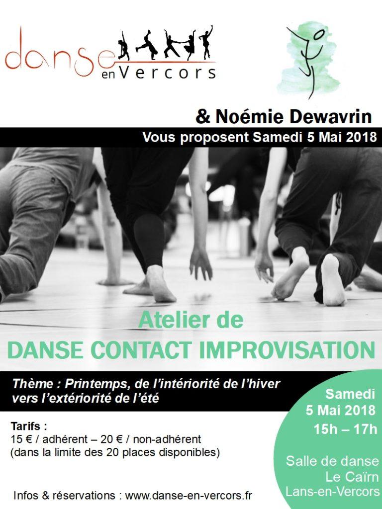Atelier Danse Contact Improvisation Lans-en-Vercors