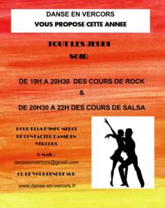 Cours de Rock Salsa à Lans en Vercors