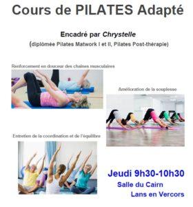 Cours de Pilates adapté Lans en Vercors